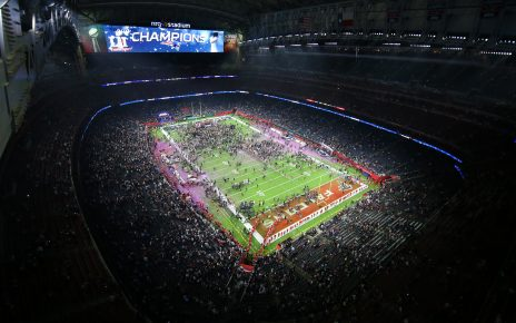 Super Bowl Stadium after the game