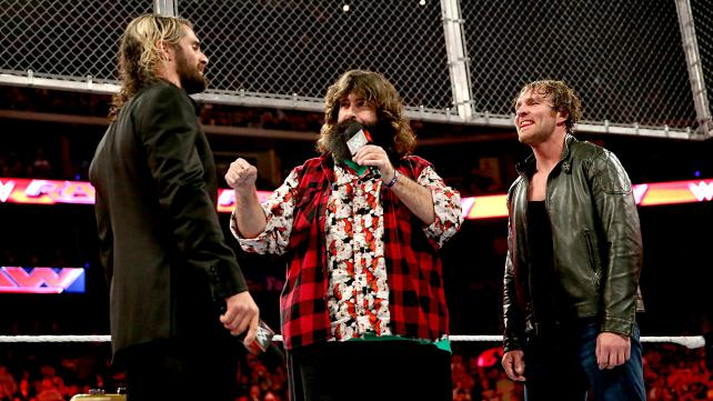 Seth Rollins and Dean Ambrose on Monday Night Raw