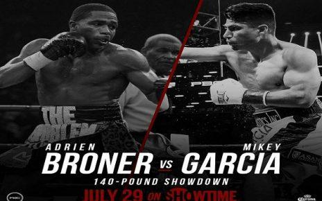 Adrien Broner vs Mikey Garcia