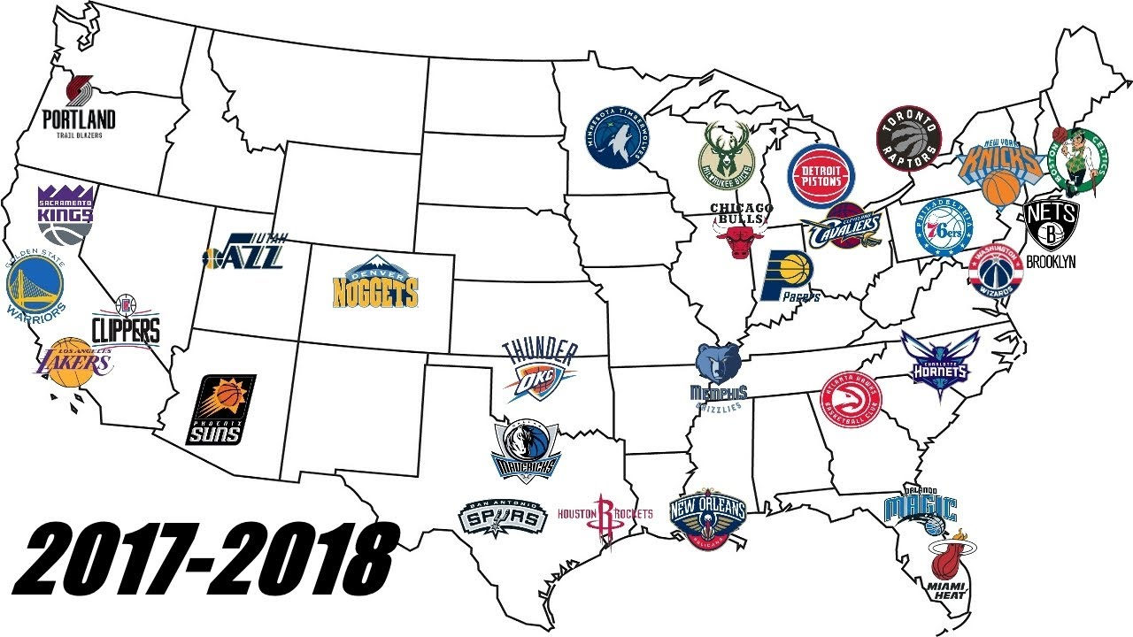 NBA Realignment Changing The Eastern And Western Conference - Nba teams map
