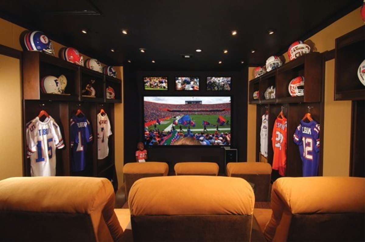 Man Cave Ideas Football : Ultimate man cave roundup finds favorite caves football locker