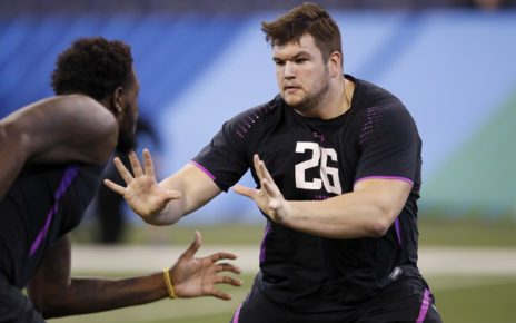 Quenton Nelson (March 2, 2018 - Source: Joe Robbins/Getty Images North America)