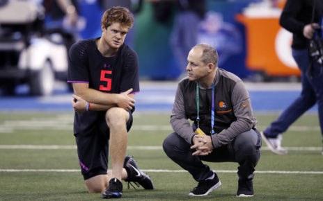 Sam Darnold (March 3, 2018 - Source: Joe Robbins/Getty Images North America)