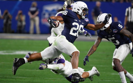 Saquon Barkley (Dec. 30, 2017 - Source: Norm Hall/Getty Images North America)