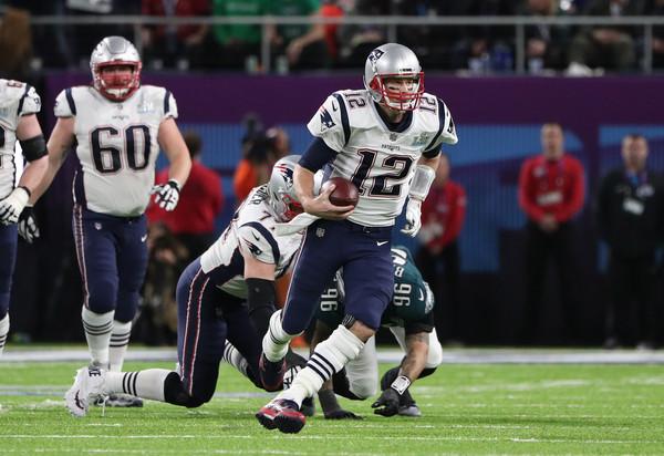 Tom Brady (Feb. 4, 2018 - Source: Patrick Smith/Getty Images North America)