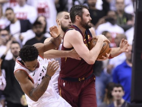 Kevin Love (May 1, 2018 Nathan Denette/The Canadian Press via AP)