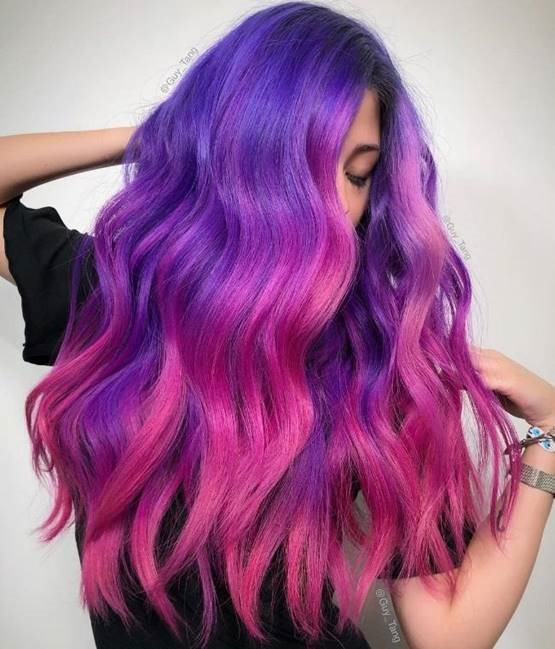 Fun and Fab Shades of Purple Ombre Hair