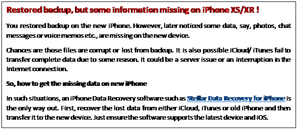 Tech: How To Restore Backup To iPhone XS/XR - INSCMagazine