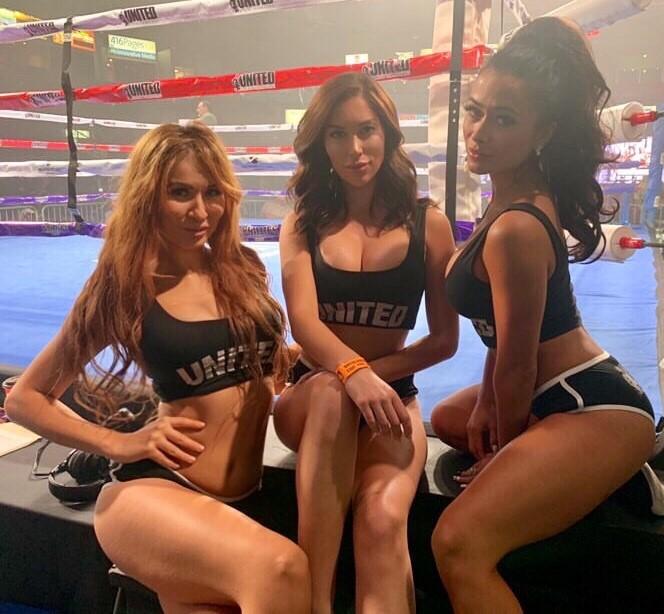 Boxing ring girl
