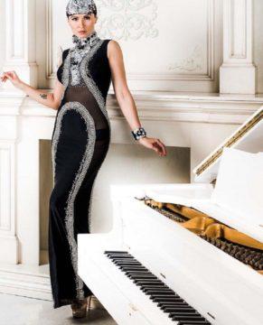 Vikki Lenola wearing Chavez Fashion. London Fashion Week preview.